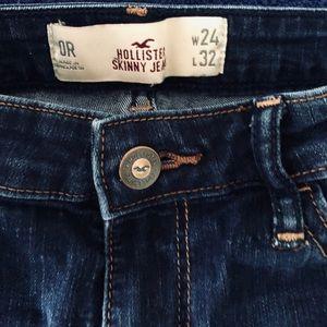 Hollister skinny jean size 0R W24 L32 dark blue